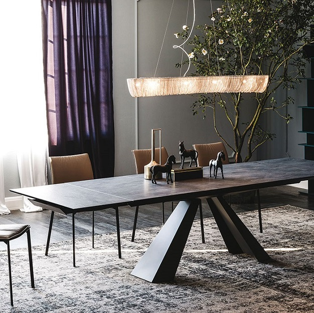 cattelan italia eliot keramik table. Black Bedroom Furniture Sets. Home Design Ideas